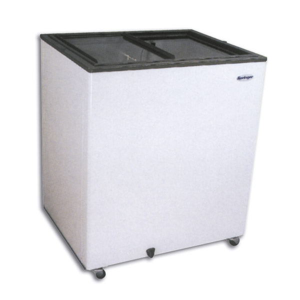 Congelador horizontal tapa vidrio 250 lts