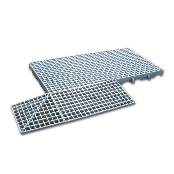 Piso plástico palmeta 600 x 1.000 x 50 mm